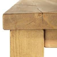 Chopwell Rustic Solid Wood Desk | Home Office | Handmade UK